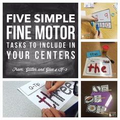Fine motor activities to add in your literacy centers!