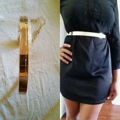 "Sexy SKINNY high waist fashion belt Trendy Metal Belt  Celebrity Metal Plate Belt       Style : Fashion   (hip / High Waist)      Condition : Brand New      Color :   Gold and silver       Size:  One Size Belt      Adjustable Can Fit Size  S-M      Waist Size: 25""-37""      Belt Width : 1.3""      Very Special Fashionable Belt      Beautiful For Every Day And For A Going Out Night.  Skinny  Color silver and gold  Shipping not included Accessories Belts"