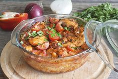 Nigella Lawson's Slow-Cooker Moroccan Chicken Stew: This is the perfect breather recipe for those chore-filled days. Morrocan Chicken Stew, Slow Cooker Moroccan Chicken, Morrocan Stew, Chicken Dishes For Dinner, Dinner Dishes, Dinner Recipes, Slow Cooker Recipes, Cooking Recipes, Healthy Recipes