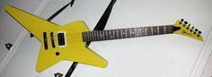 chris holmes yellow guitar
