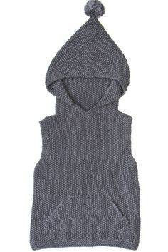 Sleeveless Sweater - Charcoal