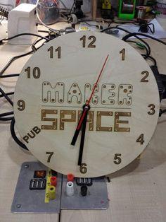 DIY maker space clock!