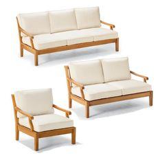 Stunning Cassara pc Sofa Set in Natural Finish
