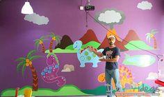 Dinosaur Boys Room Wall Decal, Dinosaurs Wall Decals, Nursery Wall Decal