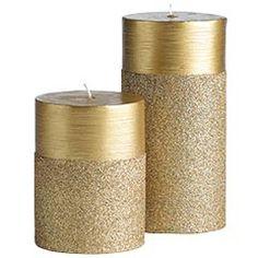 ♥ Glitter candles