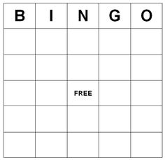 blank bingo card printable  kid stuff  pinterest  bingo bingo  how to make bingo cards   bingo cards yep i have attached a version  in word format for you to