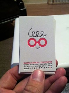 Very cute business card