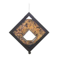 DIAMOND Seed är en fågelmatare från det danska företaget Gardenlife, designad av Milton Winckler. Den är tillverkad i svartmålad metall och du ser tydligt när fågelmaten tagit slut.