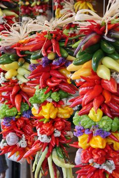 "Colorful, hanging pepper assortment | by IronRodArt - Royce Bair (""Star Shooter"")"
