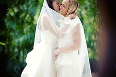 Same-Sex Marriage Ceremony - Los Angeles Gay & Lesbian Wedding. Makeup and Hair: Angela Tam Wedding Ceremony, Our Wedding, Destination Wedding, Wedding Makeup Artist, Lesbian Wedding, Purple Wedding, Hair Designs, Wedding Portraits, Portrait Photographers