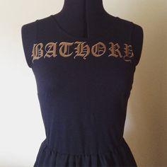Bathory 'Hordes' Band Dress Black Metal Attire. by TeaAndAusten