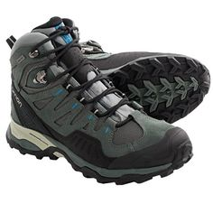 Salomon Conquest Gore-Tex® Hiking Boots - Waterproof (For Women) in Light Titanium/Titanium/Blue