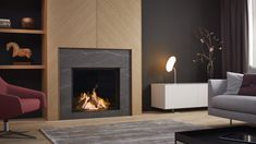 DRU - Maestro 75 Eco Wave THE ORIGINAL ULTIMATE FIRE. Check out this stunningly classic fireplace that would be suitable for any home. Visit our showroom in and fall in love with your new fireplace. Home Fireplace, Modern Fireplace, Living Room With Fireplace, Fireplace Surrounds, Home Living Room, Living Room Designs, Modern Electric Fireplace, Classic Fireplace, Gas Fireplaces