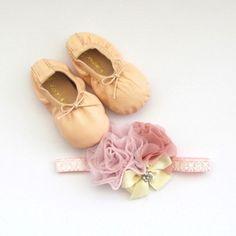 Classic Ballerina Slippers & Headband Set - Ballerina Pink.