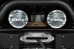 Custom 2014 Jeep Wrangler Unlimited in Black Clearcoat: Custom Lights and Winch