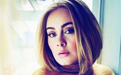 Descargar fondos de pantalla Adele, 4k, cantante Británico, retrato, mujer bella, Adele Laurie Blue Adkins