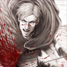 SNK - Forward! - by alatherna.deviantart.com on @deviantART Erwin Smith- Shingeki no Kyojin Attack on Titan SnK AoT