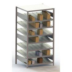 "META Storage Solutions Inc. Clip S3 Gravity Fed Rack 14° St Seven Shelf Shelving Unit Size: 79"" H x 39"" W x"