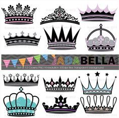 Hey, I found this really awesome Etsy listing at https://www.etsy.com/listing/121556811/instant-download-set-of-12-crowns