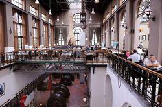 Het Pomphuis in Antwerpen. 110 jaar geleden gebouwd om een droogdok in de Antwerpse haven leeg te pompen... My favorite restaurant in Belgium