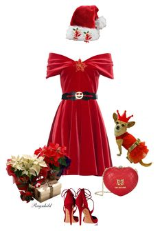 Red Cocktail Dress for Christmas by ragnh-mjos on Polyvore featuring polyvore, fashion, style, Emilio De La Morena, Aquazzura, Bling Jewelry and Aamaya by priyanka