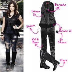Te pasamos las prendas claves para copiar el look de Aria!!! • lucy hale