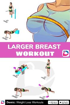 Larger Breast Workout - Alice Pin World Fitness Workouts, Gym Workout Videos, Gym Workout For Beginners, Bike Workouts, Swimming Workouts, Swimming Tips, Chest Workout Women, Chest Workouts, Full Body Gym Workout
