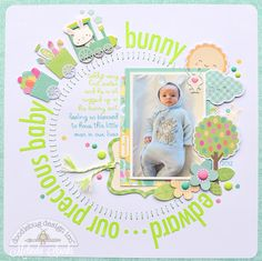 Doodlebug Design Inc Blog: Easter Express Collection: Baby Bunny layout by Melinda