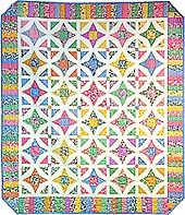 Stardance Quilt - free pattern. great colours and secondry design