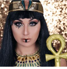 Cleopatra makeup for Halloween .