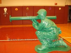 Homemade Plastic Green Army Man Halloween Costume for a Boy... This website is the Pinterest of costumes