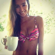 @jenna fettig taking it easy with a cup of tea and our multi pink print Capitana #eidon #eidonsurf #chill #eidon2014 #hawaii #sun #relax #hair #bikini #girl #love #like #sky #beachbabe #beachhair #best #beautiful #paradise #pink #travel #lifeisswell #livetravelsurf