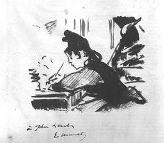 "Édouard Manet (1832-1883), ""Woman Writing"""