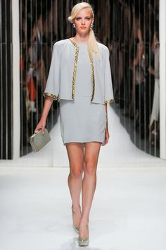Jenny Packham SS2013 - intrigued by how this comes off as half California girl, half ice princess.
