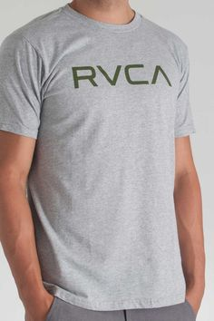 RVCA Big RVCA Tee in Athletic Heather- $24.00