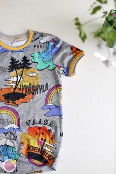 Kuinka huolitella pääntie kaksoisneulalla – Mehukekkerit Mens Tops, T Shirt, Fashion, Moda, Tee Shirt, Fashion Styles, Fashion Illustrations, Tee