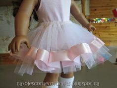 Carole's Corner of Crafts: American Girl Doll Tutu, Leg Warmers and Bodysuit AG006