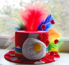 Circus Mini Top Hat - Costume  - Circus Birthday - Halloween Clown - Photo Prop. $24.00, via Etsy.