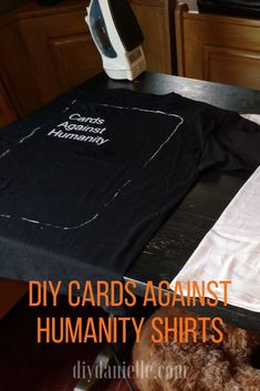 DIY Couples Halloween costume idea: Simple Cards Against Humanity themed teeshirts! Learn how to make them. Diy Couples Costumes, Family Costumes, Couple Halloween Costumes, Diy Costumes, Halloween Crafts, Halloween Ideas, Cards Against Humanity Costume, Last Minute Costumes, Silhouette Machine