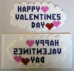 Happy Valentines Day hama perler pattern - Club Hama