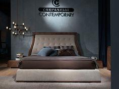 Lit double avec tête rembourrée Collection Carpanelli contemporary 2014 by Carpanelli