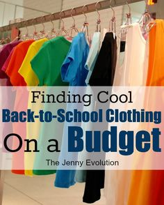 How to go Back to School Clothes Shopping on a Budget #weePLAN