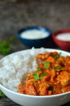 Kurczak maślany - indyjski butter chicken - niebo na talerzu Garam Masala, Chana Masala, Butter Chicken, Curry, Food And Drink, Dinner, Cooking, Healthy, Ethnic Recipes
