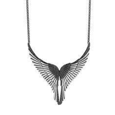 Black diamond Flight necklace by Karlin Anderson