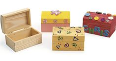 Colorations® Wooden Treasure Boxes – Set of 12 – Marla Ostroff – art therapy activities