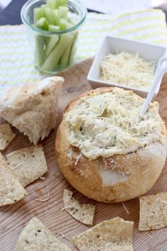 Hot Cheesy Artichoke Dip | bakeyourday.net