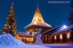 O Escritório do Papai Noel em Rovaniemi no Círculo Polar Árctico na Finlândia