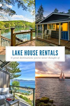 11 Great Places To Rent A Summer Lake House - Vacation ideas - Lake House Rentals, Vacation Home Rentals, Vacation Places, Vacation Trips, Dream Vacations, Vacation Spots, Lake Vacations, Vacation Ideas, Lakefront Cabin Rentals