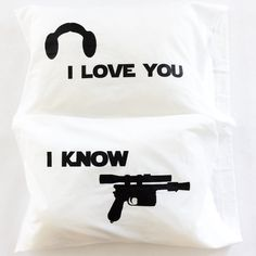 I love you I know Star Wars Love Pillowcases perfect for an awesome Christmas gift, star wars wedding, or anniversary gift. These are the pillowcases you are looking for. Nothing says love like Star W