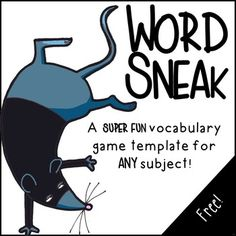 Word Sneak Vocabulary Game Template to Use. by Building Book Love Vocabulary Instruction, Teaching Vocabulary, Vocabulary Activities, Vocabulary Words, Teaching Reading, Vocabulary Strategies, Teaching Ideas, Listening Activities, Spelling Activities
